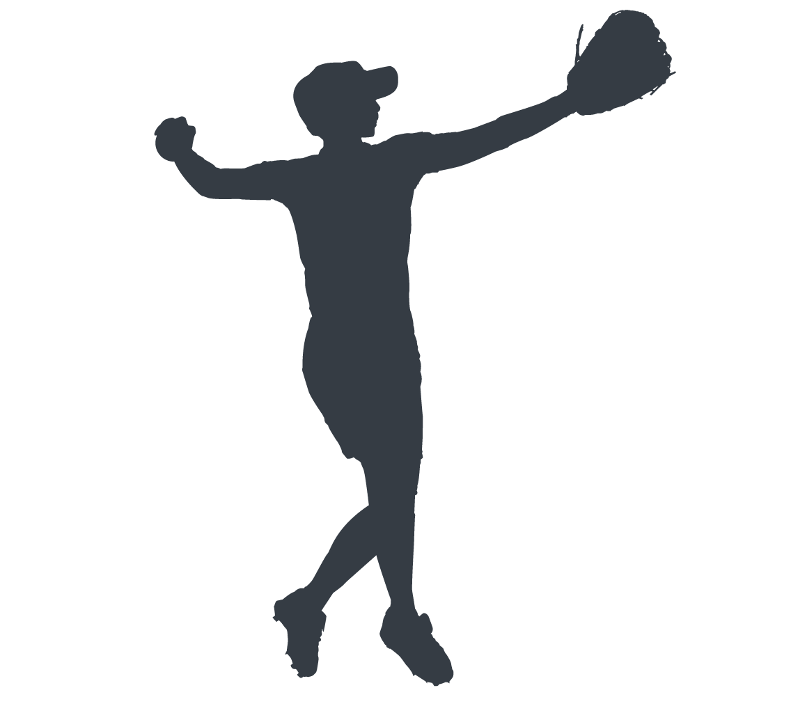 Athlete silhouette